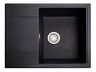 Мойка искусственный камень Solid ОПТИМА 650x510 черный гранит