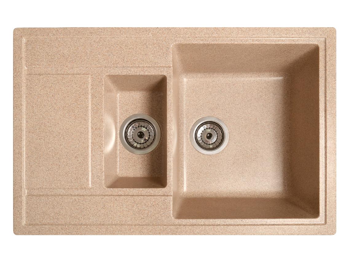 Мойка искусственный камень Solid ПРАКТИК 780x510 латино беж