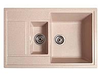 Мойка искусственный камень Solid ПРАКТИК 780x510 розовый песок
