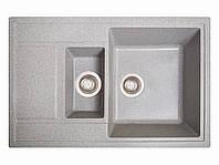 Мойка искусственный камень Solid ПРАКТИК 780x510 серый гранит