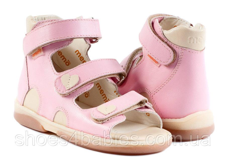 Memo Atena Розовые ― Ортопедические босоножки для детей 27