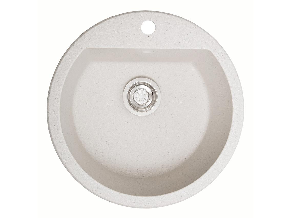 Мийка штучний камінь Solid РАУНД D510 білий пісок