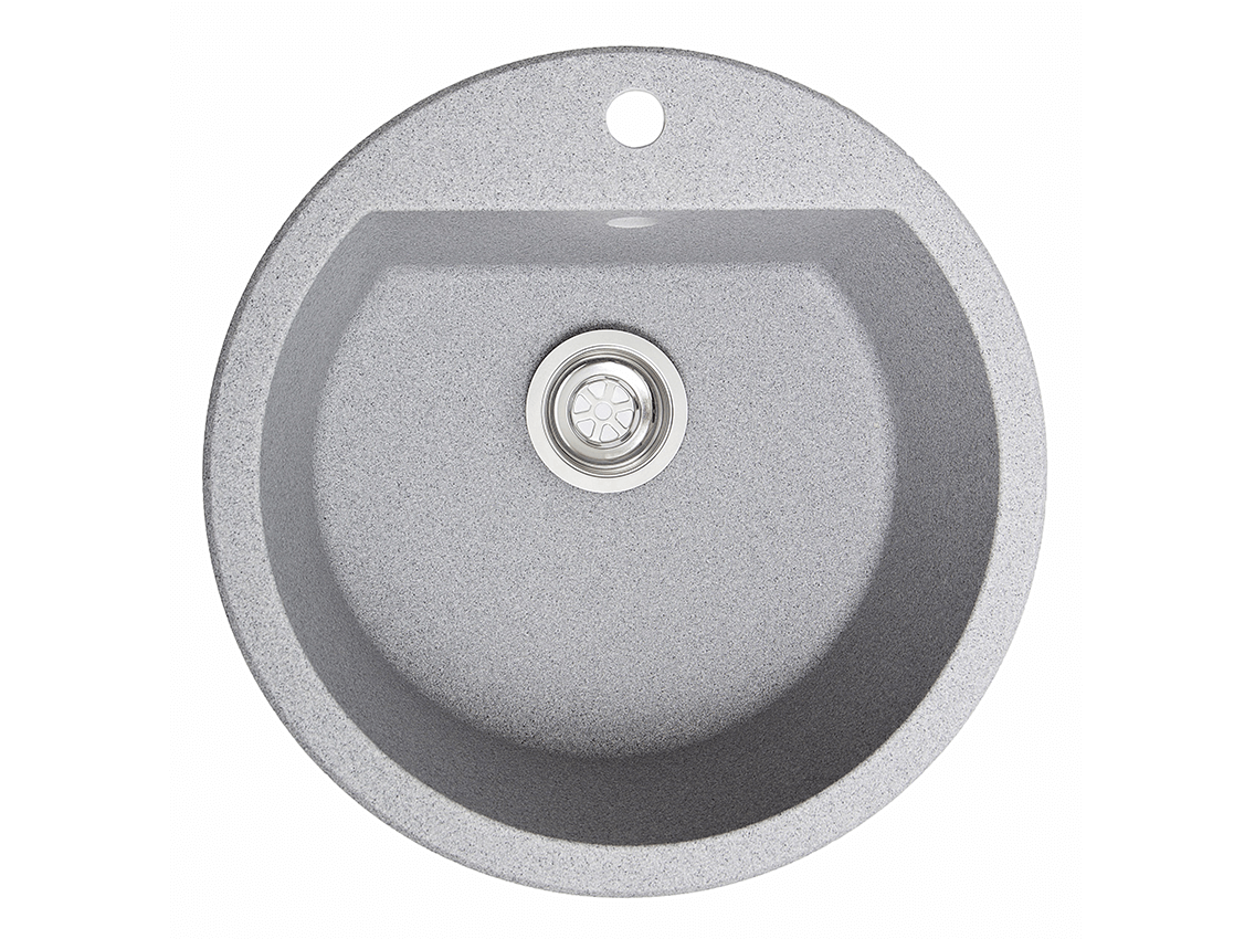 Мойка искусственный камень Solid РАУНД D510 серый гранит