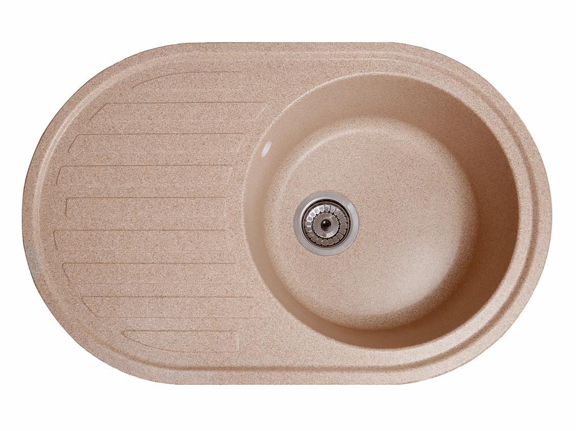 Мойка искусственный камень Solid ЭЛЕГАНТ 770x500 розовый песок