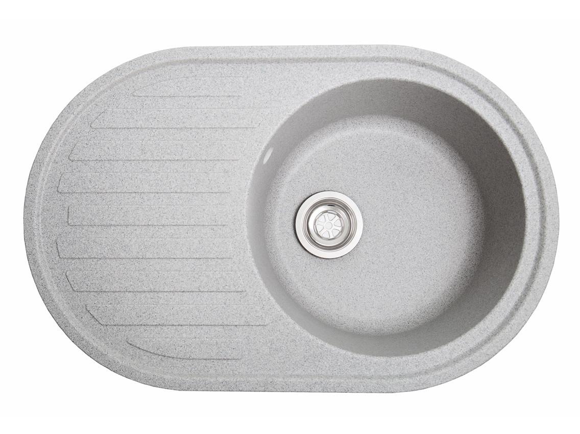 Мойка искусственный камень Solid ЭЛЕГАНТ 770x500 серый гранит