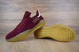 Чоловічі кросівки в стилі Adidas Kamanda бордові. Живе фото, фото 3