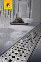 Душовий канал МСН 650 мм з решіткою Бейзік, сухий сифон, горизонтальний фланець, CH-650В