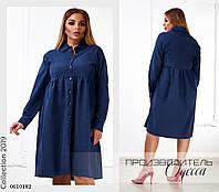 Платье-рубашка свободного фасона коттон-парка 48,50,52,54, фото 1
