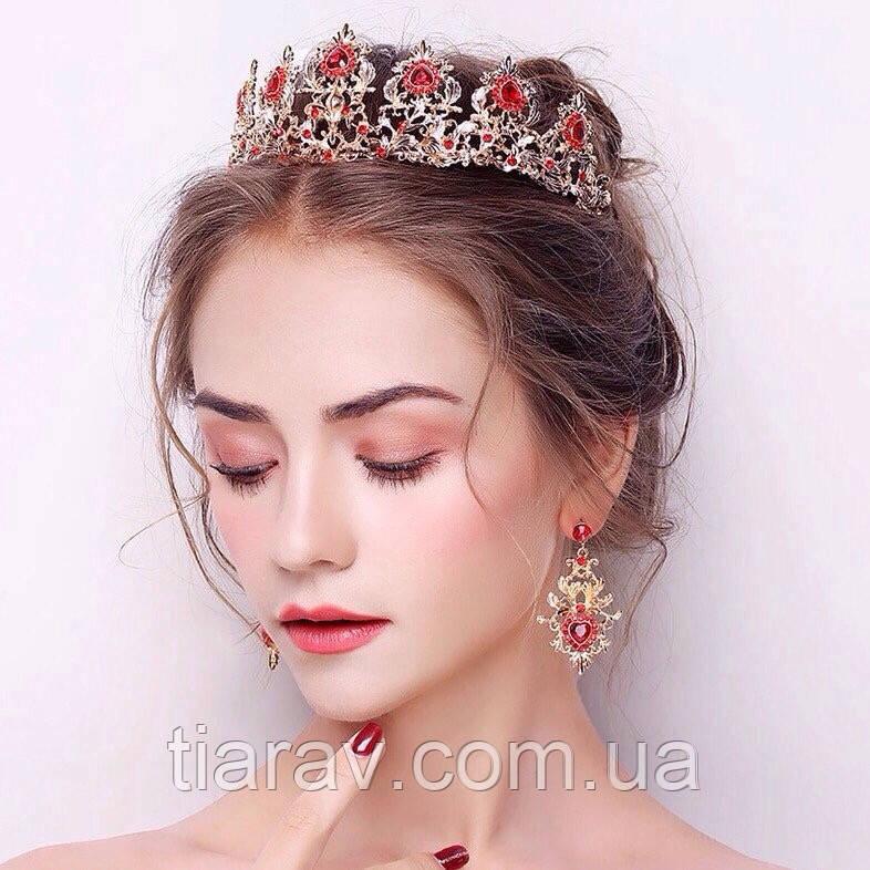 Тиара и серьги набор АДЕЛИНА корона в стиле Dolce&Gabbana