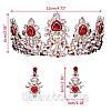 Тиара и серьги набор АДЕЛИНА корона в стиле Dolce&Gabbana, фото 8
