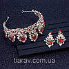 Тиара и серьги набор АДЕЛИНА корона в стиле Dolce&Gabbana, фото 7