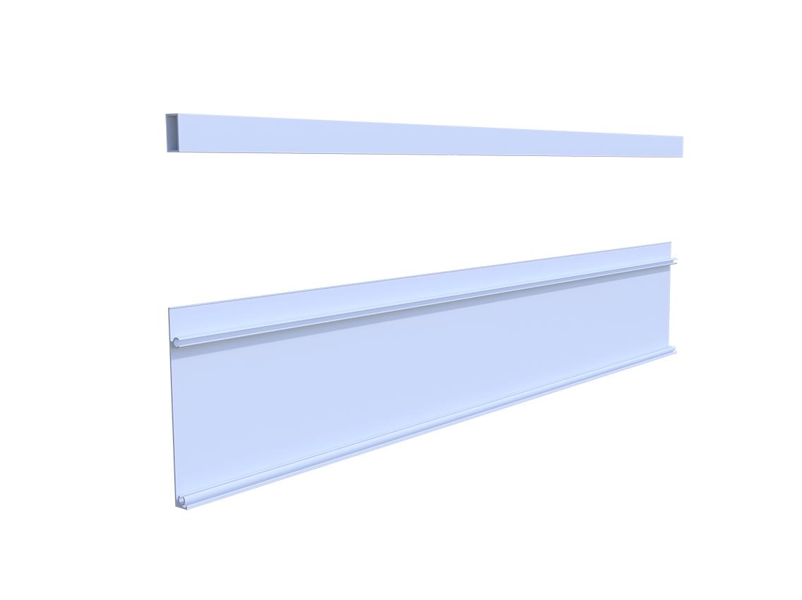 Передня панель для внутрішнього ящика GIFF FlatBox L = 1200 H = 199 білий