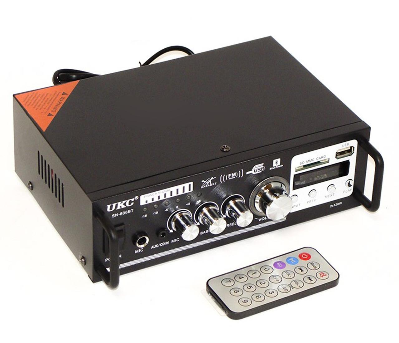 Усилитель Звука UKC SN-806BT FM MP3 USB 2x120