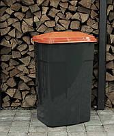 Мусорный контейнер. Бак для мусора. Мусорный бак пластиковый. 90 л