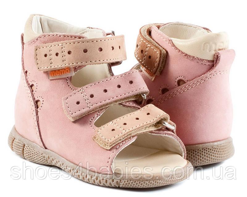Memo Dino Рожеві - Ортопедичні босоніжки для дітей 20