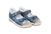 Memo Temida темно - синие (нубук) - босоножки ортопедические детские  38