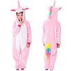 Кигуруми пижама детская единорог розовый 130 см, фото 2