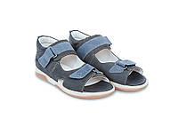 Memo Jazon темно - синие  (нубук) - босоножки ортопедические детские  30
