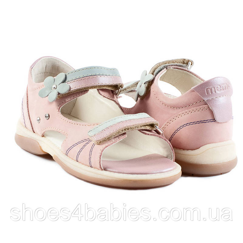 Memo Jaspis Розово-голубые - Ортопедические босоножки для детей 27