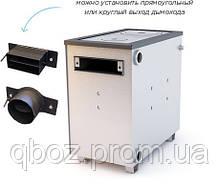 Котел отопления на дровах и угле Буржуй КП-18 с плитой, фото 3