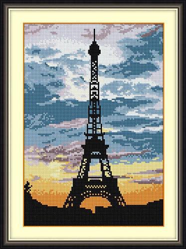 30105 эйфелева башня на закате Dream Art набор алмазной живописи квадратные полная