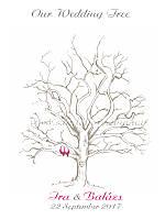 Дерево пожеланий на свадьбу №8