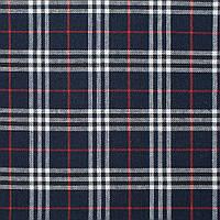 Шотландка синяя темная в бело-красную клетку ш.145 (11967.002)
