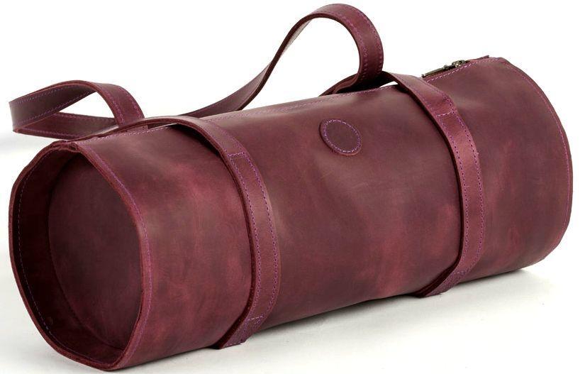 Шкіряна сумка тубус Avitoo B313, бордовий