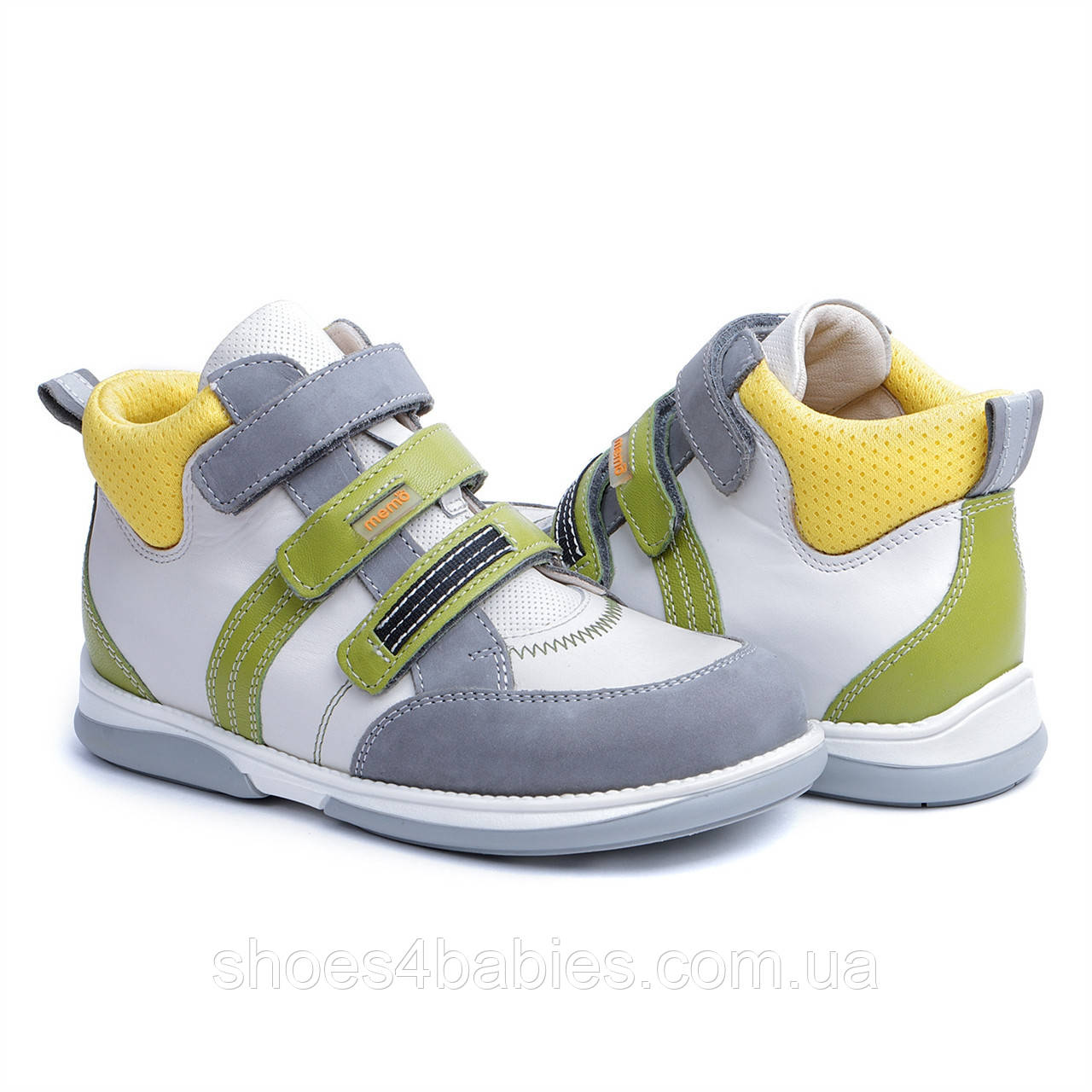 Memo Polo Белые - Ортопедические кроссовки для детей