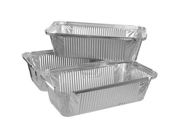 Набор контейнеров из пищевой фольги Мастер Смак 900 мл упаковка 3 шт, фото 2