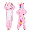 Кигуруми піжама дитяча рожевий єдиноріг 130 см, фото 3