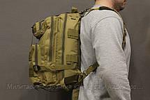 Тактический (городской) рюкзак Oxford 600D с системой M.O.L.L.E Coyote (ta25-coyote), фото 3