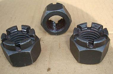 Гайка М6 ГОСТ 5918 (DIN 935) корончатая и прорезная
