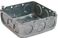 Коробка распаячная e.industrial.pipe.db для труб, металлическая квадратная, толщ.стенки 1,5ммм