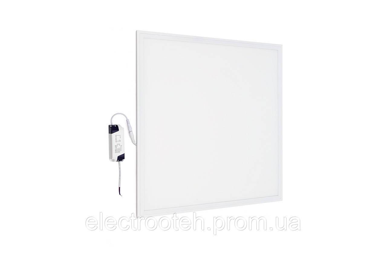 Світильник світлодіодний офісний DELUX LED PANEL 42 44W 6500K біл (595*595) opal
