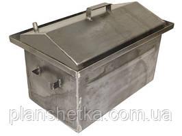 """Коптильня горячего копчения крышка домиком с гидрозатвором Большая 2,0 мм """"Smokki"""""""