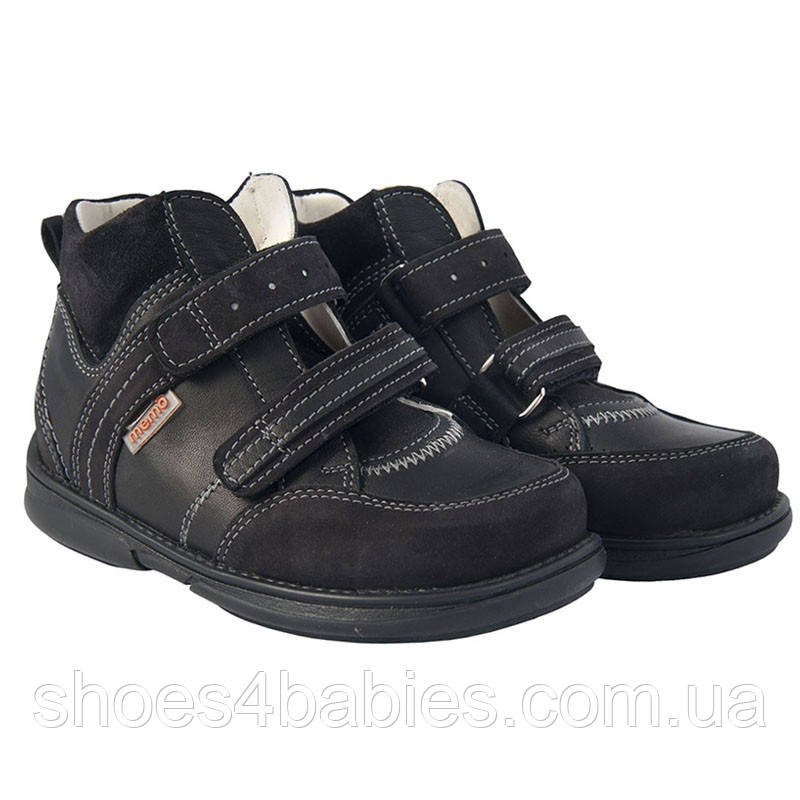Memo Polo 3LY Черные - Детские ортопедические кроссовки 25
