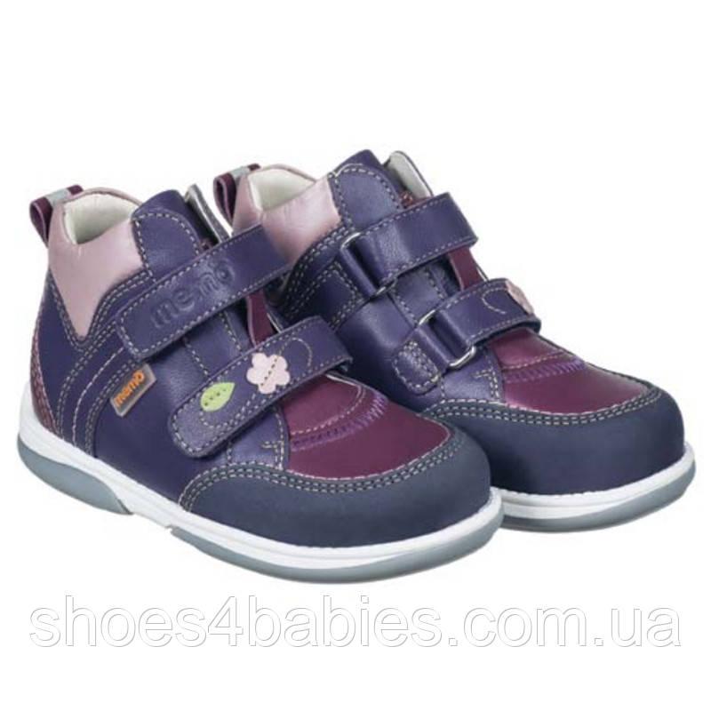 Memo Polo Junior 3JE Фіолетові Ортопедичні кросівки для дітей 30