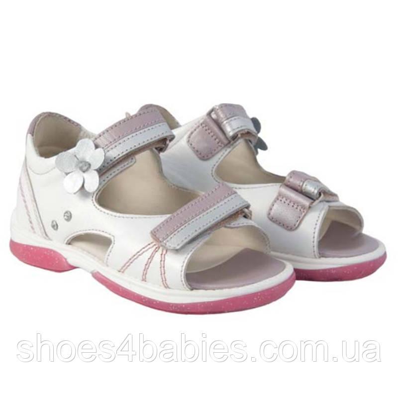 Memo Jaspis 1DA Білі Ортопедичні босоніжки для дівчаток 22