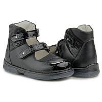 Memo Princessa 3LY Черные Ортопедические туфли для девочек 29