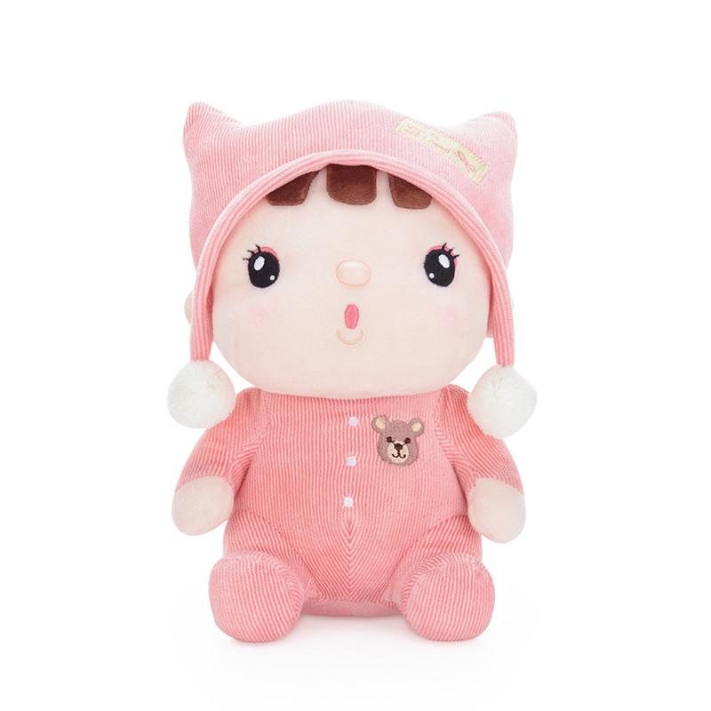 М'яка іграшка Лялька в рожевій шапці