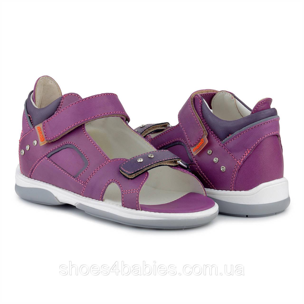 Memo Capri 3NA Фиолетовые Детские ортопедические босоножки (р.30-38)