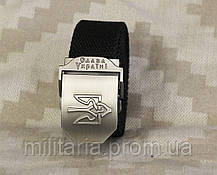 Тактический брючной ремень Слава Украине с пряжкой tactical black (slava-black), фото 3
