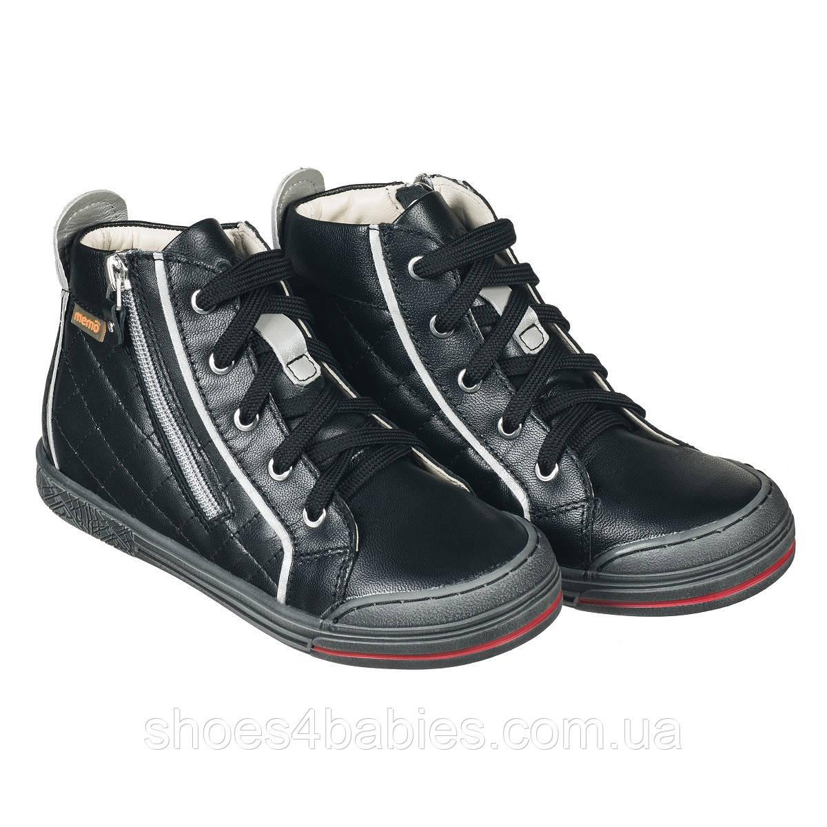 Memo New York 3LA Черные - Ортопедические кроссовки для детей (р.26-38) - Urban Classic 29