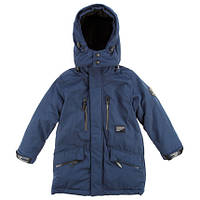 Куртка парка на мальчика синяя