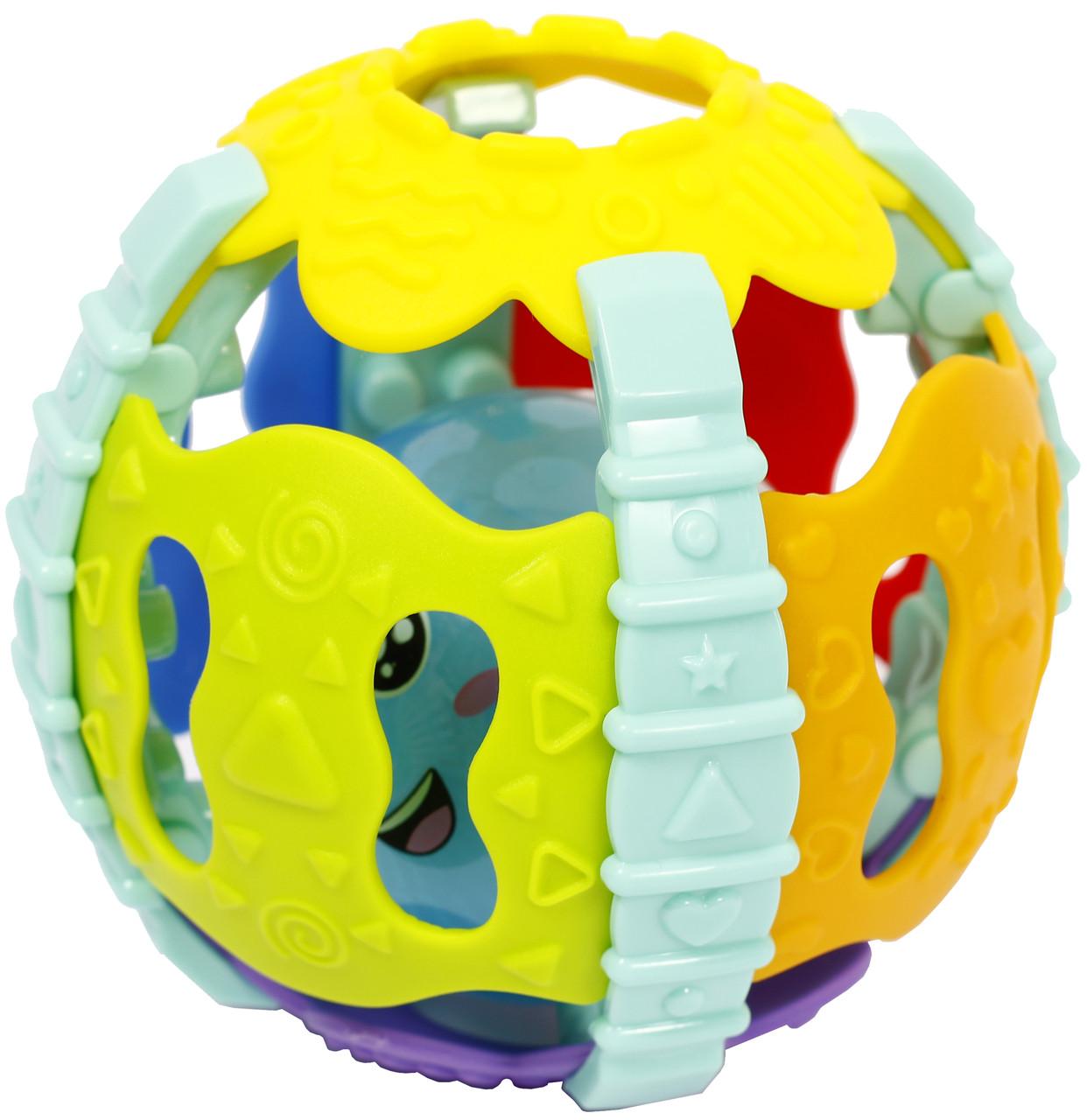 Игрушка-погремушка светящаяся шар мяч со звуком