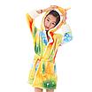 Халат детский единорог кигуруми желтый для девочки 130 см, фото 2