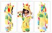 Халат детский единорог кигуруми желтый для девочки 130 см, фото 3