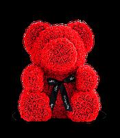 Мишка из роз красный 70 см   Ведмедик з троянд червоний 70 см подарок на день Святого Валентина