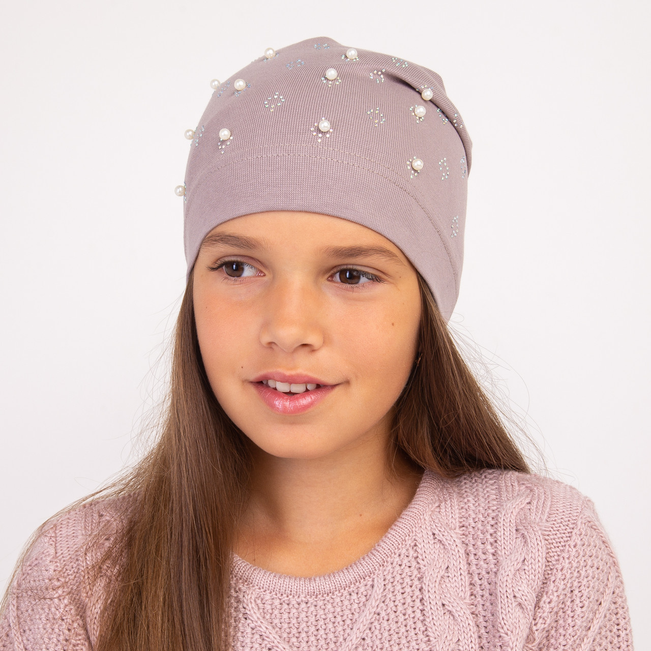 Стильная шапка на весну для девочки - Артикул 2269
